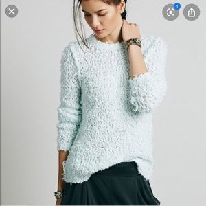 Free People Polar Bear Pullover Mint medium 60F